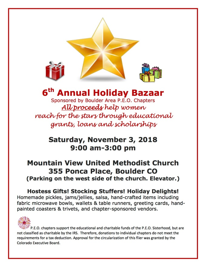 2018 Holiday Bazaar Flyer